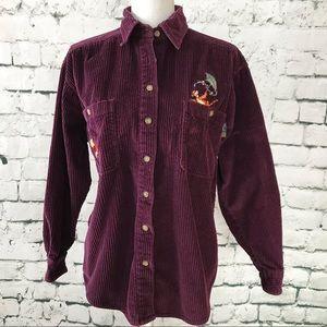 Disney's Pooh Vintage '90s Corduroy Shirt Size S